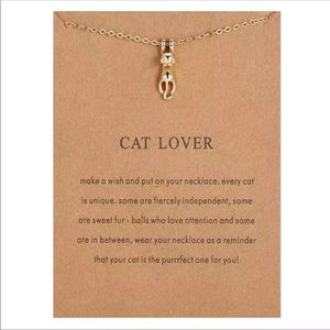 😽NEW! Cat Lover Necklace With Card Friendship